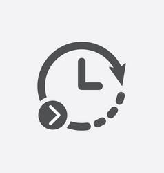 repeat clock icon forward arrow time icon vector image