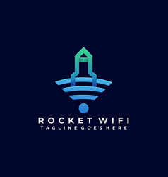 rocket wireless template vector image