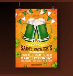 Saint patricks day party flyer vector