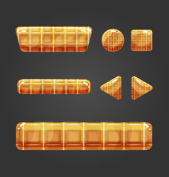 Set of waffle button for game design vector