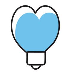 Valentine heart balloon vector