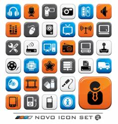 video audio and computer icons vector image