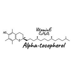 Vitamin e alpha tocopherol label and icon vector