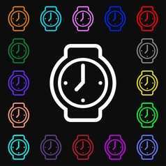 watches icon sign Lots of colorful symbols for vector image