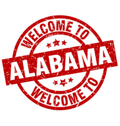 Welcome to alabama red stamp vector