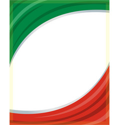 italian flag frame vector image vector image