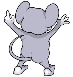 Mouse From Back vector image vector image