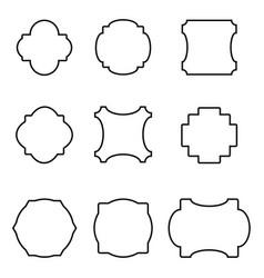 set of simple frames vector image
