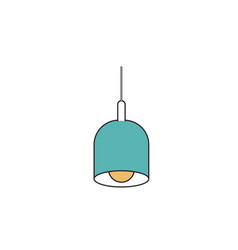 silhouette color sections of pendant lamp vector image vector image