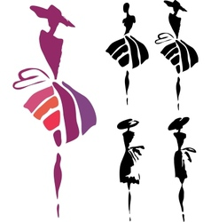 women silhouette vector image