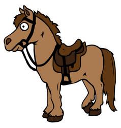 cartoon farm animals cute horse smiles eps 10 vector image vector image