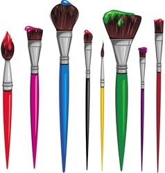 different paintbrush vector image vector image