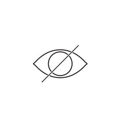 hide line icon strikeout eye outline vector image vector image