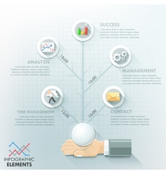 Modern infographic option template vector image vector image