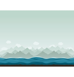 Mountains ashore2 vector image