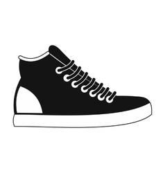 Sneakers black simple icon vector image vector image