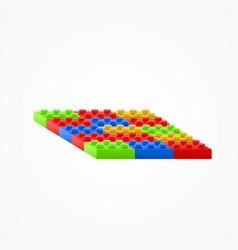 Plastic building blocks vector