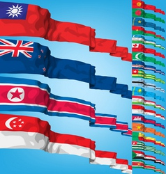 set 2 of world flags vector image vector image