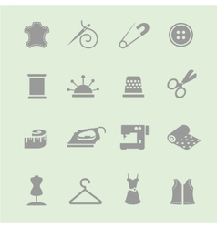 sewing equipment and needlework icon set vector image