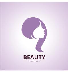 Sign of a woman face logo template vector image vector image