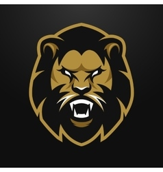 Angry lion logo symbol vector