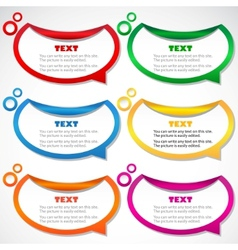 colorful stickers for speech vector image vector image