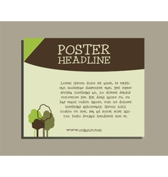 Ecology banner Go organic and go natural poster vector image