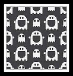Ghost halloween seamless pattern vector