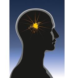 Mental health Headache vector image