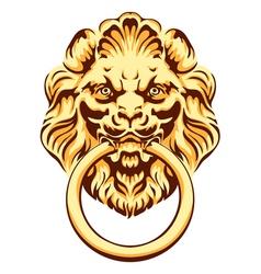 The head of a lion - door handle vector image