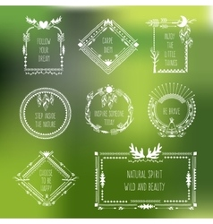 tribal frames with place for your text vector image