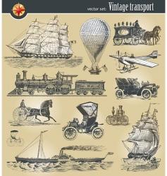 Vintage transport vector