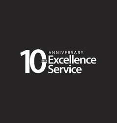 10 year anniversary excellence service template vector