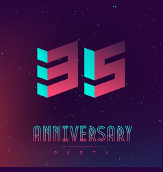 35 years anniversary night party - poster vector