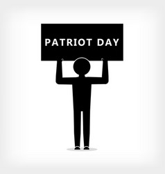 a man with a poster with the inscription patriot vector image