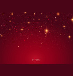 Abstract red glittery background design vector