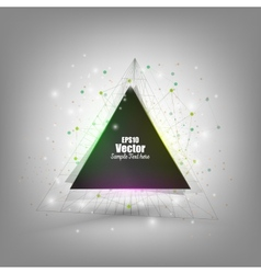 Abstract triangle banner with place for text vector image