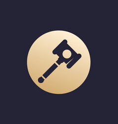 Auction hammer gavel icon vector