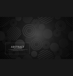 Black modern geometric abstract background vector