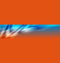 Blue and orange abstract glossy banner design vector
