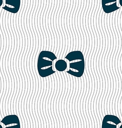 Bow tie icon sign Seamless pattern with geometric vector