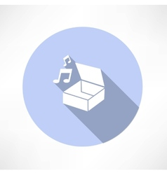 box with music vector image