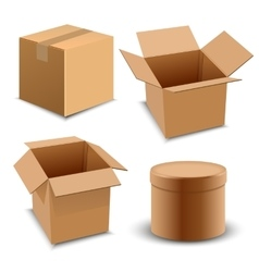 Brown carton delivery packaging box isolated on vector image