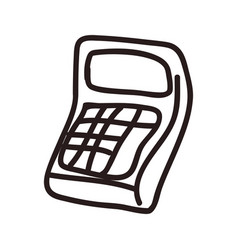 Calculator doodle cartoon vector