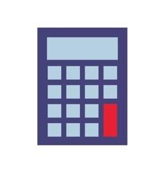 calculator math isolated icon vector image