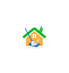 clean house realty logo vector image
