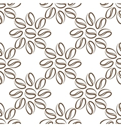 coffee beans flower vector image