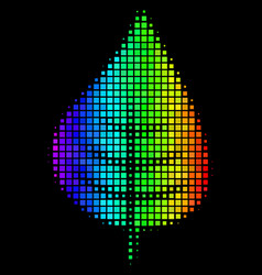 colored pixel plant leaf icon vector image