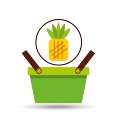 commerce basket pineapple vector image