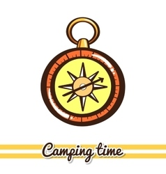 Compass Camping Equipment vector image